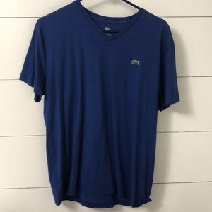 Me s Lacoste v neck tee size 6